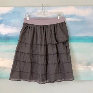 Anthropologie Skirts - Anthro Edme & Esyllte Tiered Trimmed Skirt Ruffle